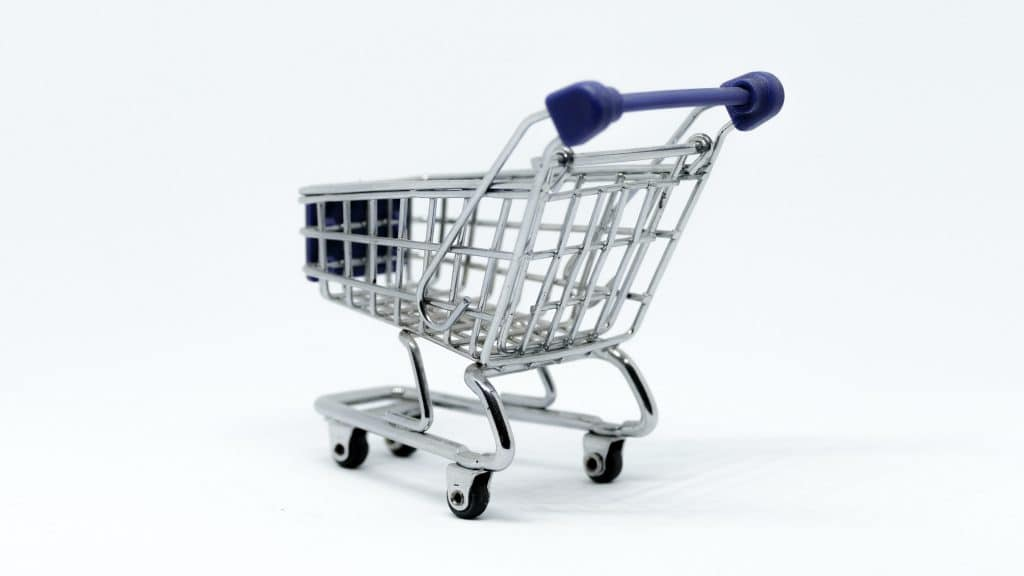 Shopping Cart Abandonment Statistics - Grey and Blue Stainless Steel Cart